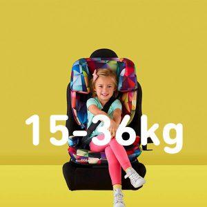 Autokrēsli 15-36 kg
